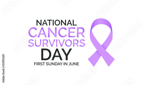 Vector illustration on the theme of National Cancer Survivors day observed each year on First Sunday in June Fototapet