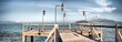 Panoramic View Of Pier On Sea Against Sky