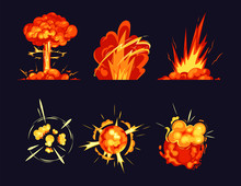 Explosion Bursts, Fire Flame B...