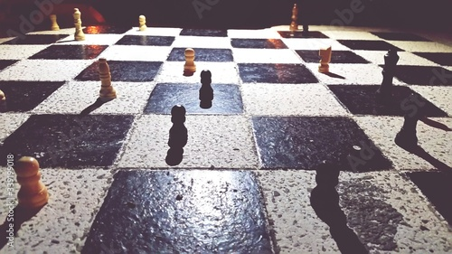 Fotografia Close-up Of Chess Pieces On Board