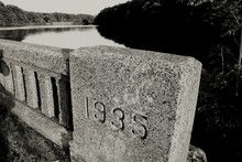 Close-up Of Number 1935 On Sto...