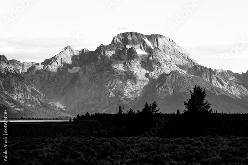 Mountains At Grand Teton National Park Fototapet