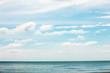 Summer clouds over Lake Michigan at Harrington Beach State Park, Belgium, Wisconsin