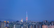 View of Seoul City Skyline at night
