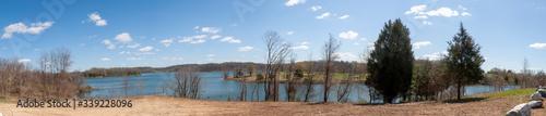 Fototapeta panorama of the lake obraz na płótnie