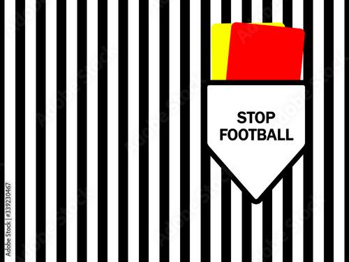 Stop Football Tablou Canvas