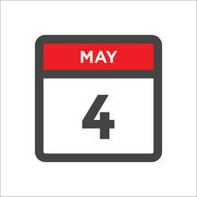 May 4 Calendar Icon W Day Of M...