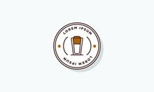 Dalgona Coffee Badge Logo Design