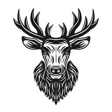 Deer Head Vector Object Or Des...