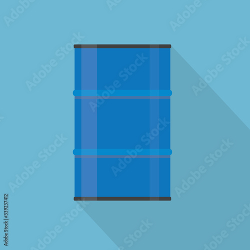 blue metal barrel icon- vector illustration Fototapete