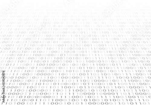 Stampa su Tela Digital  binary code background