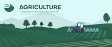 Agriculture Farm Banner. Tract...