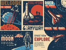 Space Exploration Vintage Colo...