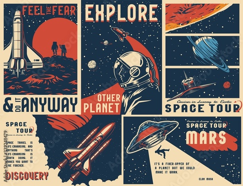 Photo Vintage universe posters collection