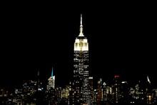 Illuminated Empire State Build...