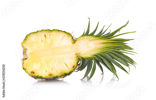 Pineapple isolated on white background Canvas Print