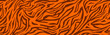 Tiger stripes pattern, animal skin, line background.  Wild life wallpaper. Vector seamles texture.