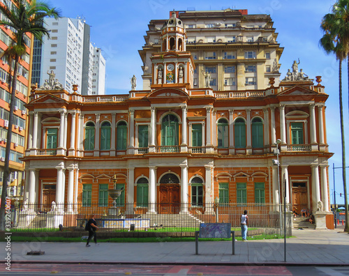 Porto Alegre City Hall Canvas Print