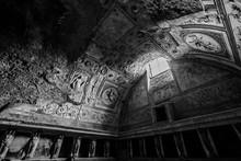 Interior Of Abandoned Ancient Roman Bath