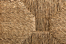 Esparto Grass Ropes Forming A Geometric Surface. Esparto Grass Ropes Are Used For Traditional Mediterranean Crafts.