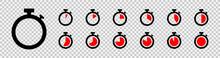 Set Of Timer Icon Set. Countdo...