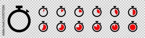Set of timer icon set Canvas Print