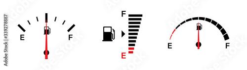 Fotografía Fuel gauge indicators