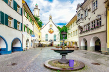 Marktgasse Von Feldkirch In Vorarlberg, Österreich