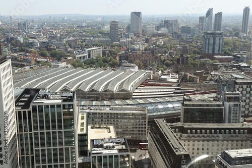 Carta da parati London cityscape with many dominants