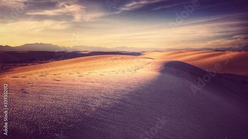 Obraz na plátně Scenic View Of White Sands National Monument Against Sky