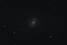 The Intermediate Spiral Galaxy Messier 100 In The Constellation Coma Berenices Photographed With A Maksutov Telescope From Mannheim In Germany.