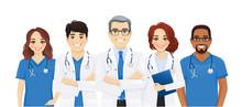 Multiethnic Doctor Team Group ...