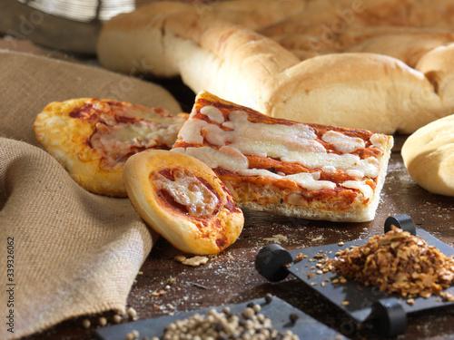 Fototapeta Pane Focaccia pizza tradizionale italiana