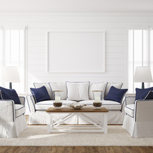 Hampton Style Living Room Inte...