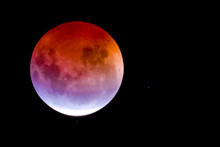 Scenic View Of Full Moon During Lunar Eclipse