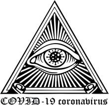 A Masonic Eye With A Coronavir...