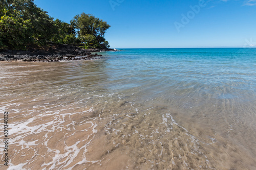 Waves Washing Ashore on The Golden Sands Of Mau'umae Beach, Hawaii, Hawaii, USA Canvas Print