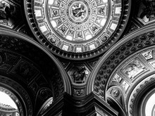 Low Angle View Of Ornate Ceiling In Church