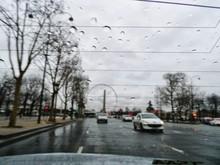 Ferris Wheel Against Sky Seen Through Rear Windshield