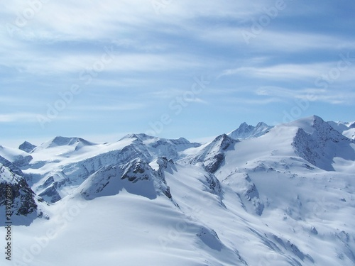 Fototapety, obrazy: Snow Covered Mountains Against Sky