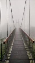Footbridge At Yangmingshan National Park During Foggy Weather