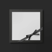 Mourning Photo Frame Mockup Wi...