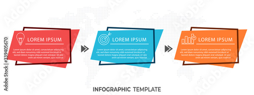 Photo Modern timeline infographic 3 options.