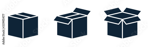 Fotografija Set of shipping, delivery box or container icons.