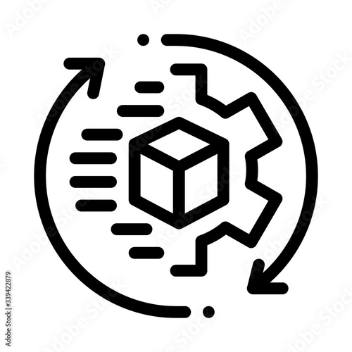 technical aspect of sending icon vector Canvas Print