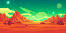 Mars Landscape, Alien Planet B...