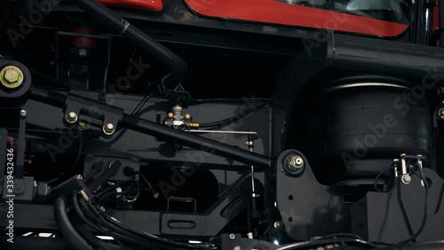 Fotografie, Obraz Air suspension of a modern tractor.
