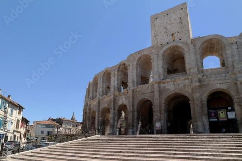 Fototapeta Arles Amphitheatre Against Clear Sky