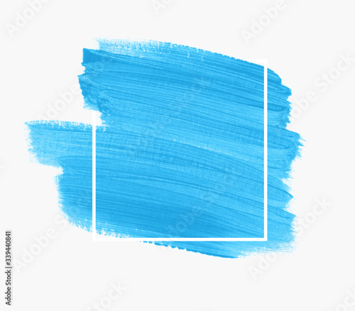 Obraz na plátně Brush painted acrylic abstract background vector over square frame