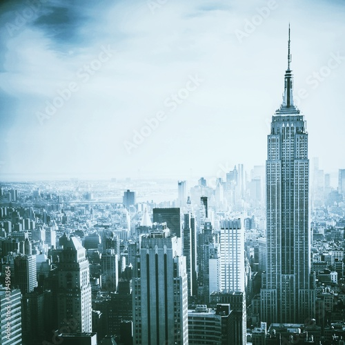 Cuadros en Lienzo Cityscape With Empire State Building Against Sky